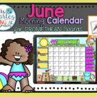 UPDATED!! ACTIVBOARD Calendar Math- June (English)
