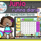 UPDATED!! ACTIVBOARD Calendar Math- Junio (Spanish)