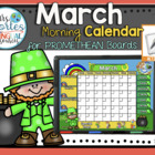 UPDATED!! ACTIVBOARD Calendar Math- March (English)