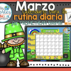 UPDATED!! ACTIVBOARD Calendar Math- Marzo (Spanish)
