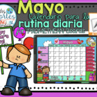 UPDATED!! ACTIVBOARD Calendar Math- Mayo (Spanish)