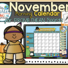 UPDATED!! ACTIVBOARD Calendar Math- November (English)