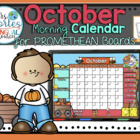 UPDATED!! ACTIVBOARD Calendar Math- October (English)