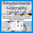 UPDATED! Geography Introduction Complete Unit Lesson Plans