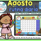UPDATED!! SMARTBOARD Calendar Math-Agosto (Spanish)