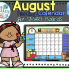 UPDATED!! SMARTBOARD Calendar Math- August (English)