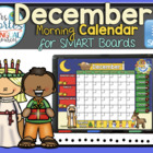 UPDATED!! SMARTBOARD Calendar Math-December  (English)