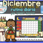 UPDATED!! SMARTBOARD Calendar Math- Diciembre(Spanish)