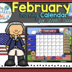UPDATED!! SMARTBOARD Calendar Math-February  (English)