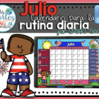 UPDATED!! SMARTBOARD Calendar Math- Julio  (Spanish)