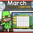 UPDATED!! SMARTBOARD Calendar Math- March  (English)