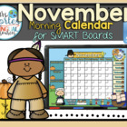 UPDATED!! SMARTBOARD Calendar Math-  November  (English)