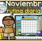 UPDATED!! SMARTBOARD Calendar Math-Noviembre  (Spanish)