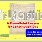 U.S. Constitution PowerPoint for Constitution Day K-2 w/wo
