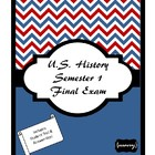 U.S. History First Semester Final Exam