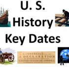 U.S. History Key Dates Powerpoint & Class Signs / Bulletin Board