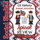 US History / Social Studies Daily Spiral Review *120 Daily
