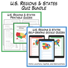 U.S. Regions &amp; States Test Packet