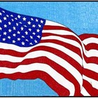 USA Flag Mural PDF Template