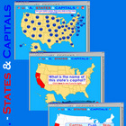 U.S.A. - Interactive States &amp; Capitals w/Matching  - SMART