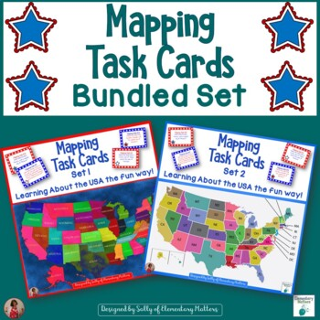 USA Mapping Task Cards - Combined Set
