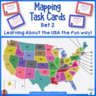 USA Mapping Task Cards Set 2