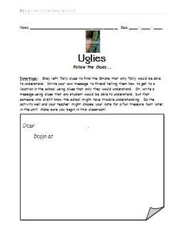 Uglies Literature Unit - Follow the Clues Activity