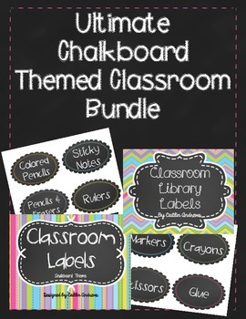 Ultimate Chalkboard Themed Classroom Bundle