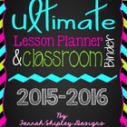 Ultimate Planner/Binder Combo-Bright Chevron and Dots