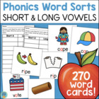 Ultimate Word Sorts ~ Short & Long Vowels Collection