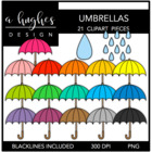 Umbrellas Bright {Graphics for Commercial Use}