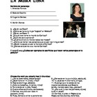 Under the Same Moon - La Misma Luna Worksheet & Key