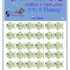 Under the Sea Addition & Subtraction 0 to 3 Fluency Game