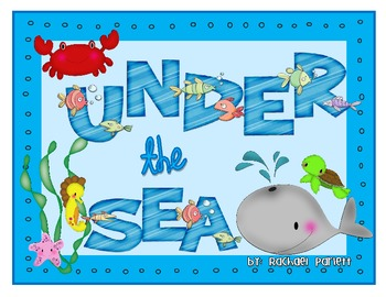 Under the Sea Blank Game Board
