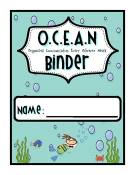 Under the Sea: Ocean Binder Cover