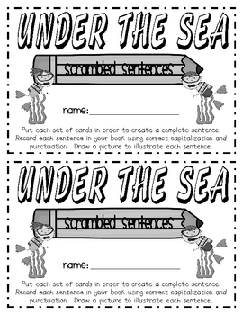 Under the Sea Sentence Scramble