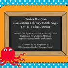 Under the Sea Theme Library Book Bin Tags