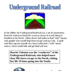 Underground Railroad - Scavenger Hunt &amp; Diaries