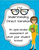 Understanding Direction Variation: an open ended assessment