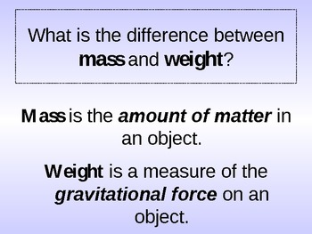 Understanding Gravity and Vocabulary Power Point