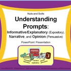 Understanding Prompts: Expository, Narrative, & Persuasive PPT