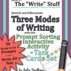 Understanding and Recognizing the Writing Modes w/ Writing
