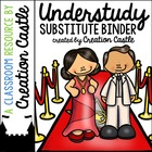 Understudy - Substitute Resources/Binder {Hollywood Theme 