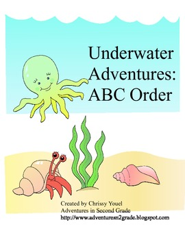 Underwater Adventures:  ABC Order