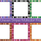 Uneven Stripes Multicolor Frames