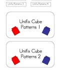 Unifix Cube File Folder Games - 4 Unifix Cube Pattern Games