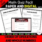 Unit 1 Common Core Math Quizzes - *Order of Operations and