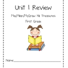 Unit 1 Review Packet for Macmillan/McGraw-Hill Treasures, 