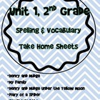 Unit 1 Spelling 2nd Grade