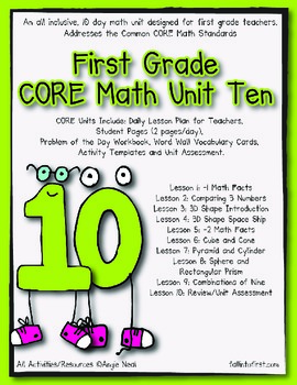 Unit 10 First Grade CORE Math